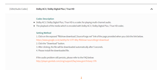 Codec Installation vom GOM Player