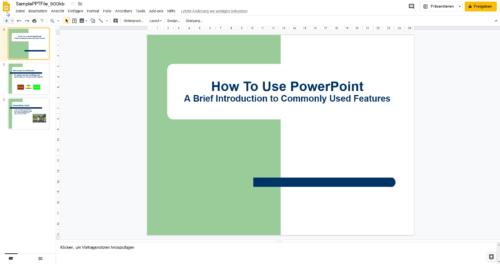 PowerPoint kostenlos mit Google Slides
