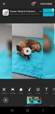 Video schneiden mit InShot