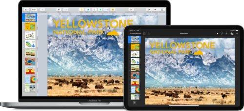 Keynote auf dem Mac und iPad