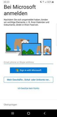 Launcher bei Microsoft anmelden