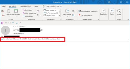 Outlook Mail unter Windows wiederherstellen
