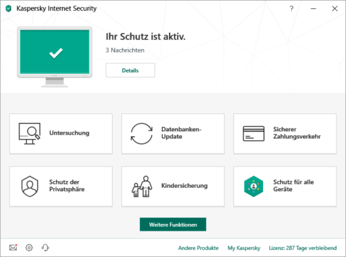 Kaspersky Internet Security 2019 Screenshot