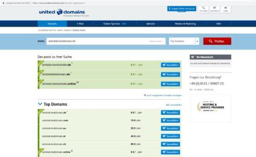 United-Domains Domain-Abfrage