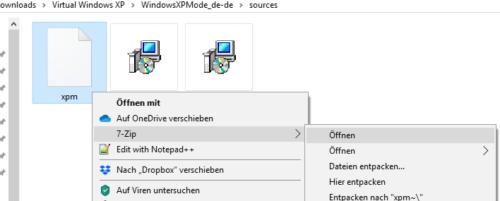 Datei xpm mit 7-Zip öffnen
