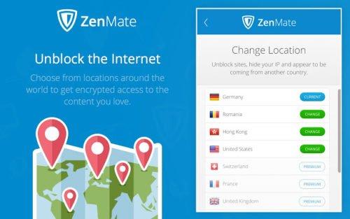 ZenMate für Chrome, Android und iOS