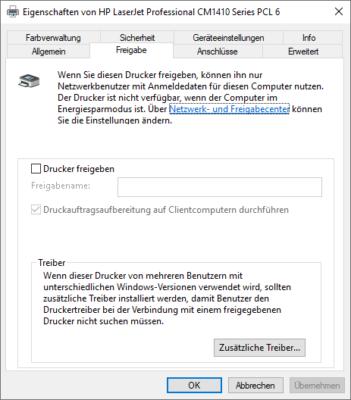 Druckerfreigabe in Windows
