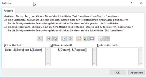 Seitenzahl Excel anpassen