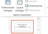 Folienmaster in PowerPoint erstellen