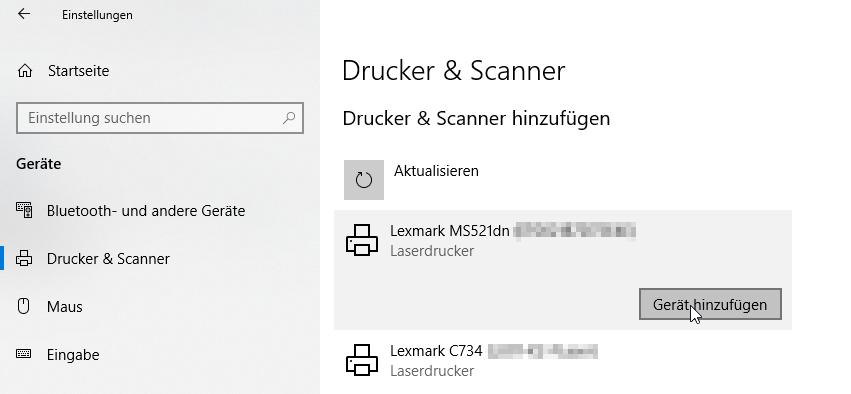 Windows 10 Netzwerkdrucker Einrichten