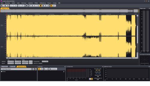 Screenshot Audio bearbeiten mit Acoustica