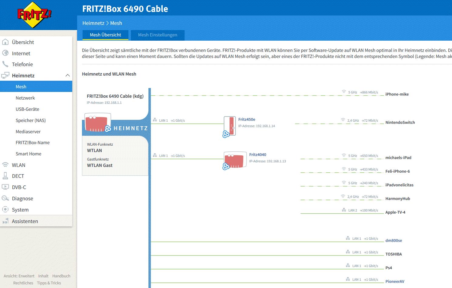 FRITZBox Mesh So richten Sie ein Mesh Netzwerk mit AVM Geräten ein