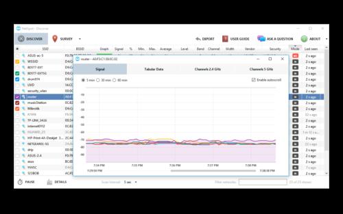 WLAN Empfang messen mit Netspot