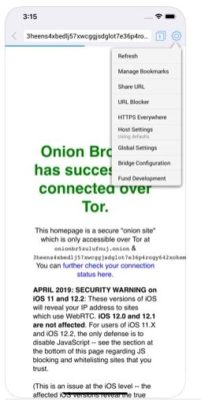 Der Onion Browser von Apple