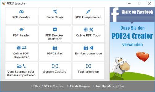 PDF24 Creator unter Windows 10