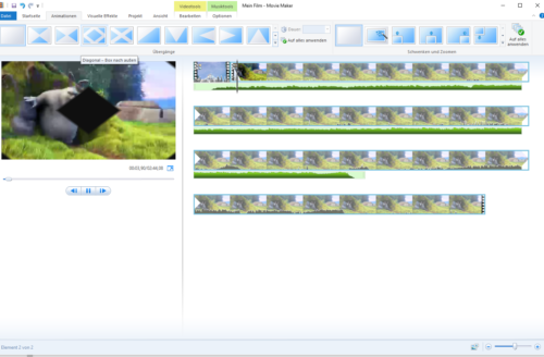 Animationen in Windows Movie Maker