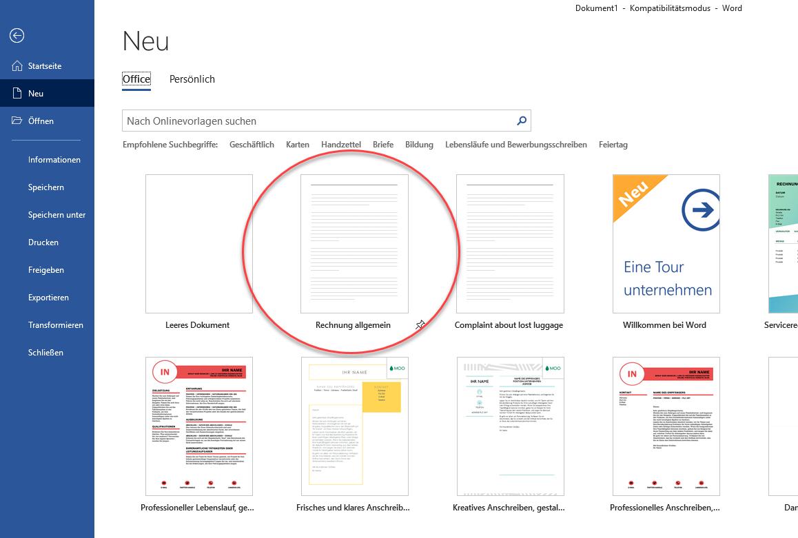 Individuelle Vorlagen In Word Excel Und Powerpoint