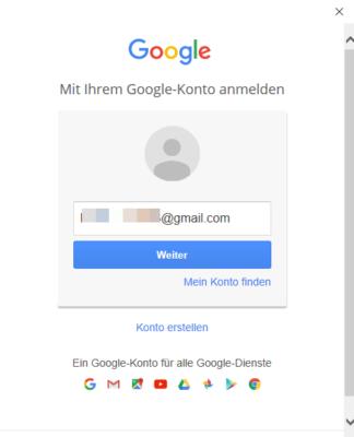 Gmail-Kennwortabfrage