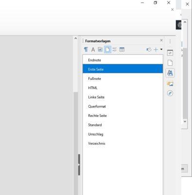 Formatvorlagen in LibreOffice