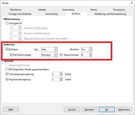 Seitenummern in LibreOffice nachträglich einfügen: Nicht auf erster Seite starten