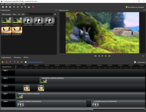 Openshot ist ein Open Source Video-Editor