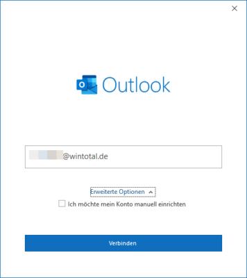 Outlook kann viele Mailkonten selbstständig einrichten