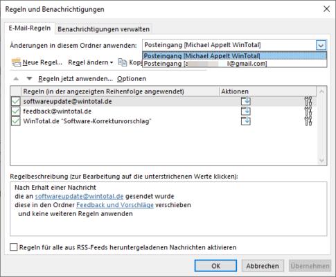 Regelverwaltung in Outlook 365