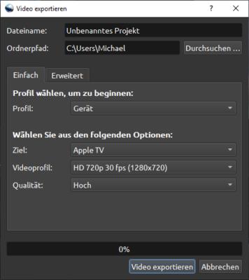 Video exportieren
