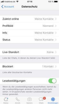 WhatsApp Profilbild wird nicht angezeigt