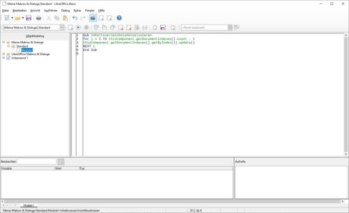 Neues Makro in LibreOffice erstellen