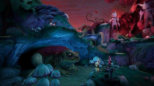 "Spielszene aus ""MOSS"": Bunte Fantasy-World"