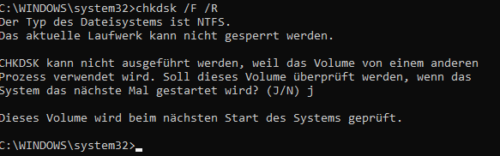 Volume sperren