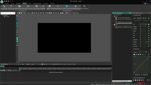 Oberfläche von VDSC Free Video-Editor