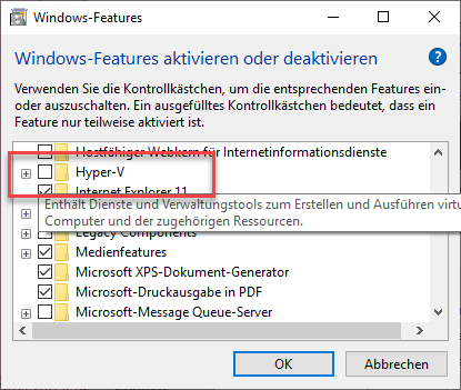 Hyper-V in Windows 10