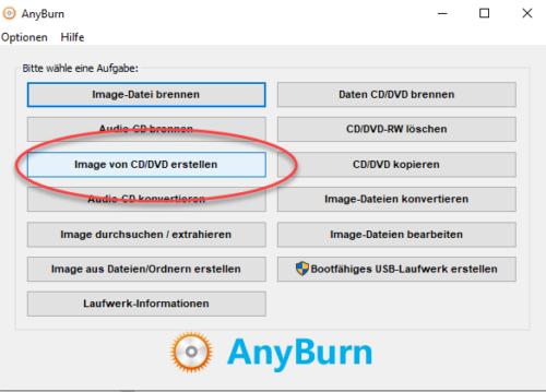 Anyburn kann ISO-Dateien erstellen