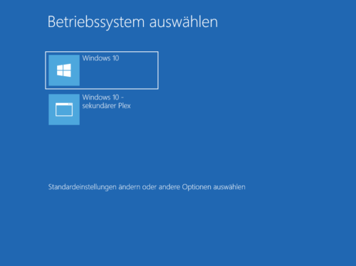 Booten Windows 10 vom Software RAID