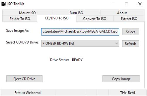 ISO Toolkit kann ganz einfach eine ISO-Datei erstellen