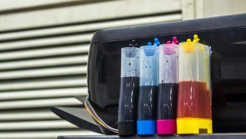 Drucker ohne Chip mit Farbtanks