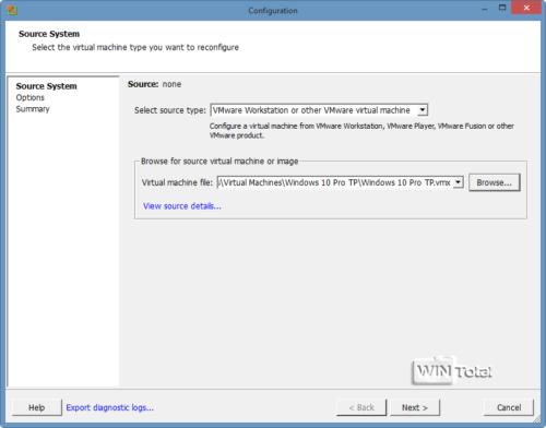 Mit dem VMWare  VCenter Converter können Sie ein Echtsystem in eine VM konvertieren