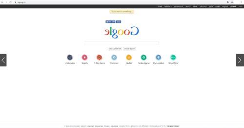 Startseite von elgoog.im - leider nicht auf deutsch