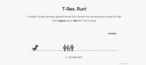 elgooG T-Rex Game
