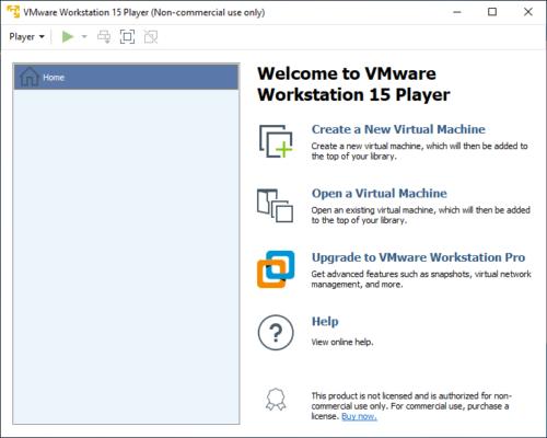 VMWare Workstation Player ist für Privatanwender kostenlos