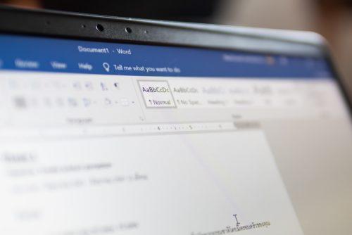 Beispiele für das EVA-Prinzip: Formatierung eines Word Arbeitsblattes festlegen
