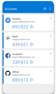Microsoft Authenticator mit Konten