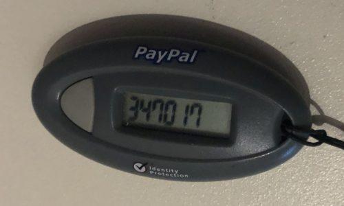 Paypal Sicherheitsschlüssel
