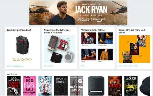 Personalisierte Inhalte bei Amazon