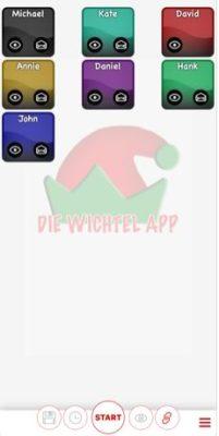 """Screenshot von """"Die Wichtel-App"""""""