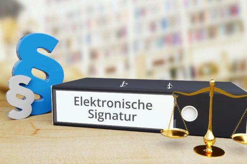 Elektronische Signatur und die Rechtslage