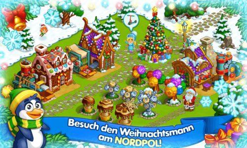 """Screenshot der Weihnachts-App """"Die Farm des Weihnachtsmannes"""""""