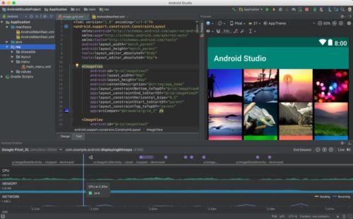 Screenshot des Google Android Studio